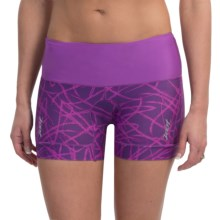 """Zoot Sports High-Performance Tri Shorts - UPF 50+, 4"""" (For Women) in Purple Haze Static - Closeouts"""