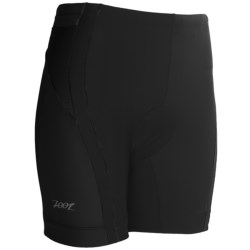 "Zoot Sports High-Performance Tri Shorts - UPF 50+, 6"" (For Women) in Black/Fire Print"