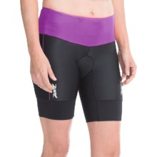 "Zoot Sports High-Performance Tri Shorts - UPF 50+, 8"" (For Women) in Black/Plum - Closeouts"