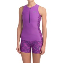 Zoot Sports High-Performance Tri Tank Top (For Women) in Purple Haze Static - Closeouts