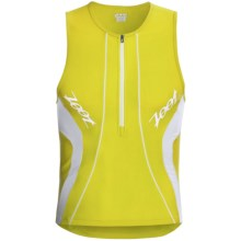 Zoot Sports High-Performance Tri Tank Top - UPF 50+, Zip Neck (For Men) in Volt/White - Closeouts