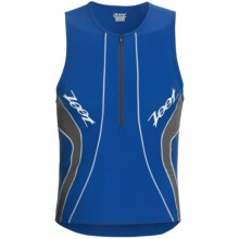 Zoot Sports High-Performance Tri Tank Top - UPF 50+, Zip Neck (For Men) in Zoot Blue/Graphite - Closeouts