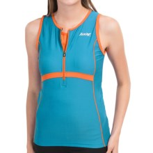 Zoot Sports High-Performance Tri Tank Top - Zip Neck (For Women) in Splash Flame - Closeouts