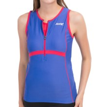 Zoot Sports High-Performance Tri Tank Top - Zip Neck (For Women) in Violet Blue/Zoot Red - Closeouts