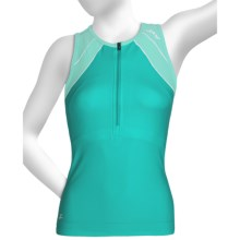 Zoot Sports High-Performance Tri Tank Top - Zip Neck, UPF 50+, Built-In Bra (For Women) in Aruba/Beach/Glass - Closeouts