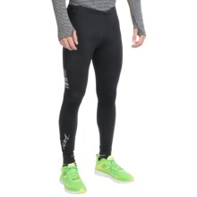 Zoot Sports Liquid Core+ Running Tights (For Men) in Black/Black - Closeouts