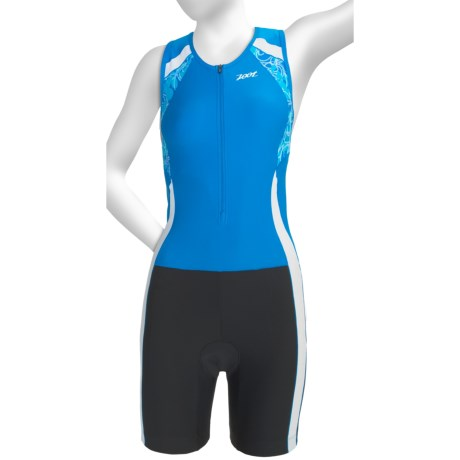 Zoot Sports Performance Hydro Tri Race Suit - UPF 50+ (For Women) in Oceanus/Oceanus/Print