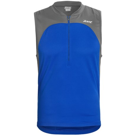 Zoot Sports Performance Tri Jersey - Sleeveless (For Men) in Zoot Blue/Graphite