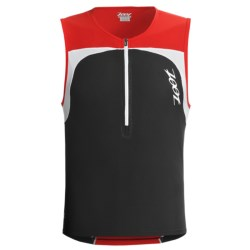 Zoot Sports Performance Tri Mesh Top Jersey - UPF 50+, Zip Neck, Sleeveless (For Men) in Black/Zoot Red