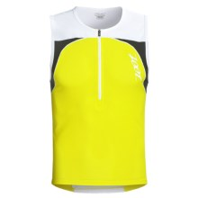 Zoot Sports Performance Tri Mesh Top Jersey - UPF 50+, Zip Neck, Sleeveless (For Men) in Volt/White - Closeouts