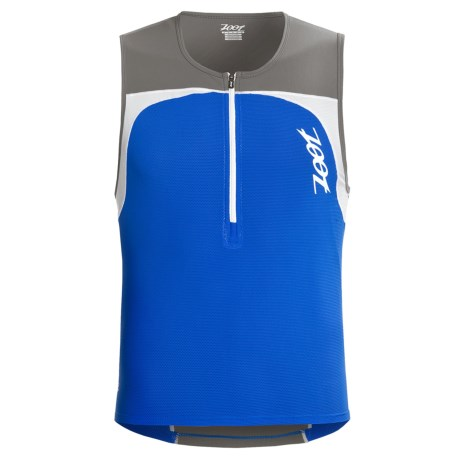Zoot Sports Performance Tri Mesh Top Jersey - UPF 50+, Zip Neck, Sleeveless (For Men) in Zoot Blue/Graphite