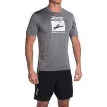 Zoot Sports Run Surfside Graphic T-Shirt - Short Sleeve (For Men) in Zoot/Black Heather - Closeouts
