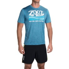 Zoot Sports Run Surfside Graphic T-Shirt - Short Sleeve (For Men) in Zoot Run/Blutonium Heather - Closeouts