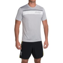 Zoot Sports Run Surfside Graphic T-Shirt - Short Sleeve (For Men) in Zoot/Silver Strand Heather - Closeouts