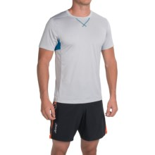 Zoot Sports Run Surfside T-Shirt - Crew Neck, Short Sleeve (For Men) in Silver Strand Heather/Blutoniu - Closeouts