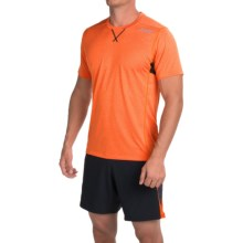 Zoot Sports Run Surfside T-Shirt - Crew Neck, Short Sleeve (For Men) in Solar Flare Heather/Black - Closeouts