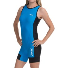 Zoot Sports Tri Back Zip Race Suit - Sleeveless (For Women) in Black/Pacific - Closeouts
