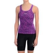 Zoot Sports Tri Cycling Tank Top - Racerback (For Women) in Purple Haze Static - Closeouts