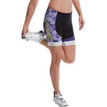 Zoot Sports Tri Team Bike Shorts (For Women) in Purple Haze/Spring Green - Closeouts