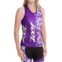 Zoot Sports Tri Team Cycling Jersey - Racerback, Sleeveless (For Women) in Purple Haze/Spring Green - Closeouts