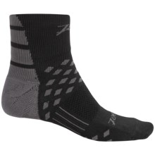 Zoot Sports TT Cycling Socks - Quarter Crew (For Men and Women) in Black/Graphite - Closeouts