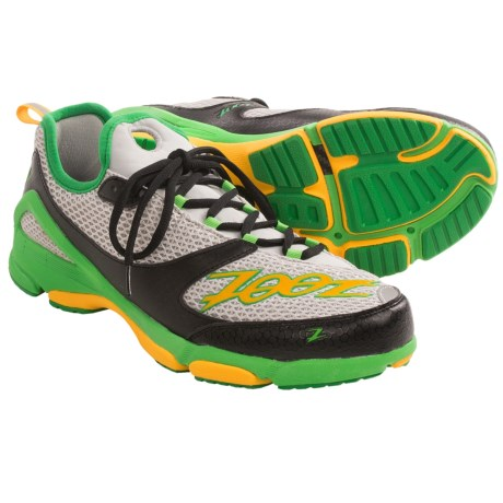 Zoot Sports TT Trainer Running Shoes (For Men) in Light Grey/Green Lantern/Spectra