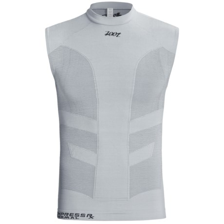Zoot Sports Ultra CompressRx Thermal Top - Sleeveless (For Men and Women) in Heather Grey