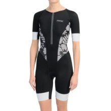 Zoot Sports Ultra Tri Aero Suit - UPF 30, Short Sleeve (For Women) in Black Island - Closeouts