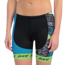 Zoot Sports Ultra Tri Ali'i Bike Shorts (For Women) in White Splash - Closeouts