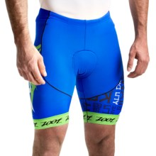 "Zoot Sports Ultra Tri Ali'i Bike Shorts - UPF 50+, 8"" (For Men) in Zoot Blue Green Flash - Closeouts"