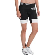 "Zoot Sports Ultra Tri Bike Shorts - UPF 30, 6"" (For Women) in Black Island - Closeouts"