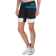"Zoot Sports Ultra Tri Bike Shorts - UPF 30, 6"" (For Women) in Maliblue Island - Closeouts"