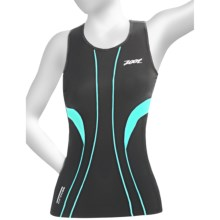 Zoot Sports ULTRA Tri Racerback Top - UPF 50+, Built-In Bra (For Women) in Black/White/Aruba - Closeouts
