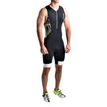 Zoot Sports Ultra Tri Racesuit (For Men) in Black/Sub Atomic Yellow - Closeouts