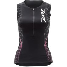 Zoot Sports Ultra Tri Speed Tank Top - UPF 50+, Zip Neck (For Women) in Black/Pink Glow - Closeouts