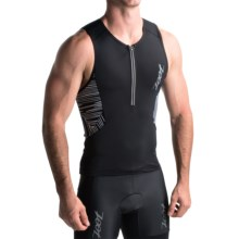 Zoot Sports Ultra Tri Tank Top (For Men) in Black/Black - Closeouts