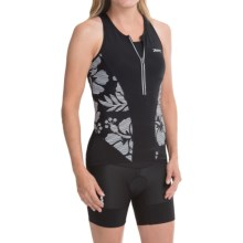 Zoot Sports Ultra Tri Tank Top - UPF 30 (For Women) in Black Island - Closeouts