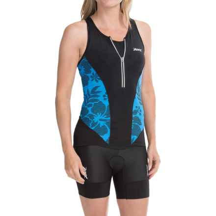 Zoot Sports Ultra Tri Tank Top - UPF 30 (For Women) in Maliblue Island - Closeouts