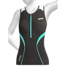 Zoot Sports ULTRA Tri Tank Top - UPF 50+, Built-In Bra (For Women) in Black/White/Aruba - Closeouts
