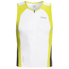 Zoot Sports Ultra Tri Tank Top - UPF 50+, Zip Neck (For Men) in White/Volt/Black - Closeouts