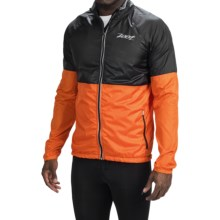 Zoot Sports Wind Swell+ Stripe Run Jacket - Full Zip (For Men) in Black/Solar Flare - Closeouts