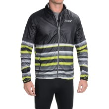 Zoot Sports Wind Swell+ Stripe Run Jacket - Full Zip (For Men) in Black/Spring Green - Closeouts