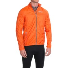 Zoot Sports Wind Swell Solid Run Jacket - Full Zip (For Men) in Solar Flare/Black - Closeouts