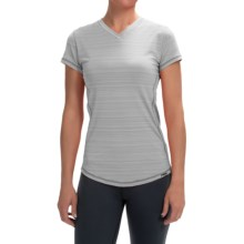 Zuala Energy T-Shirt - V-Neck, Short Sleeve (For Women) in Silver Sconce Marl - Closeouts