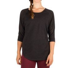 Zuala Horizon Lattice Shirt - 3/4 Sleeve (For Women) in Anthracite - Closeouts