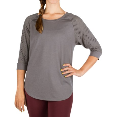 Zuala Horizon Lattice Shirt 3/4 Sleeve (For Women)