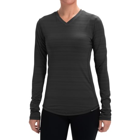 Zuala Latitude T Shirt V Neck, Long Sleeve (For Women)