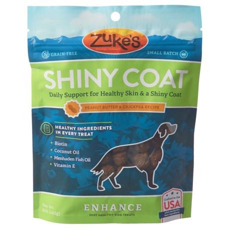 Zuke's Enhance Shiny Coat Peanut Butter and Chickpea Dog Treats - 5 oz. in See Photo