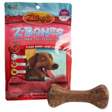 Zukes Giant Z-Bones - 4-Pack in Berry - Closeouts