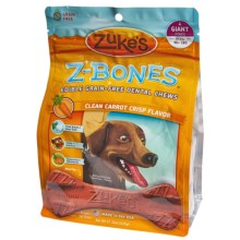 Zukes Giant Z-Bones - 4-Pack in Carrot - Closeouts